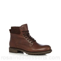 Men RJR.John Rocha - Brown leather lace up boots Upper Leather Lining Leather textile FTJFHQY