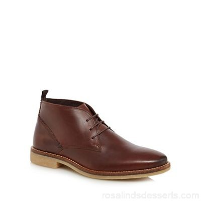 Men RJR.John Rocha - Brown leather 'Snowdonia' desert boots Upper Leather Lining Textile / leather HRUBXWW