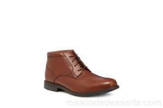 Men Rockport - Tan leather 'Essential Detail' desert boots Upper Leather Lining Textile FWHMAET