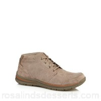 Men Skechers - Taupe suede 'Superior' chukka boots Upper Leather Lining Textile QTELOUZ