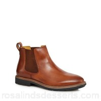 Men Steptronic - Tan leather 'Lord' Chelsea boots Upper Leather Lining Textile AUMYUQH