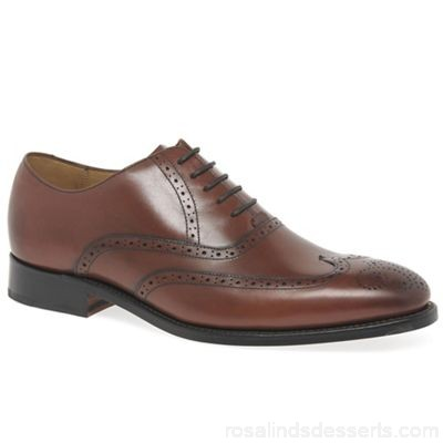 Men Barker - Brown leather 'Roger' brogues Fastening lace up Upper leather GSTEQRI