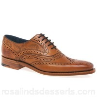 Men Barker - Tan 'McClean' Mens Formal Brogues Fastening lace up Fit F fitting VXHPXVA