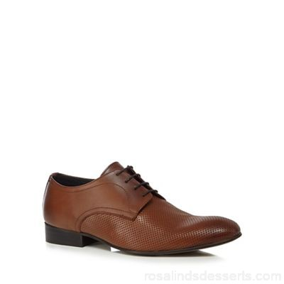 Men Base London - Tan leather 'Statement' Derby shoes Upper leather Lining leather / textile DFJBRSU