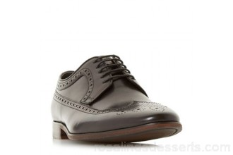 Men Bertie - Black 'Parady' american brogue shoes Heel height 2.0cm/0.7 inches Fastening Lace up IVXULMW