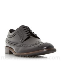 Men Bertie - Black 'Rizzo' longtip leather brogue shoe Heel height 2cm Fastening Lace up CNSUDBE