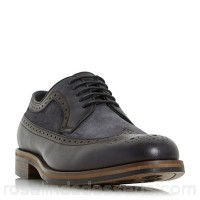 Men Bertie - Grey 'Prize' combo American brogue Heel height 2.0cm/0.7 inches Fastening lace up CCGQJQU
