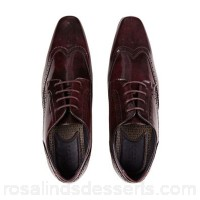Men Burton - Burgundy leather look shoes 100% polyurethane Do not wash SCYAWPL