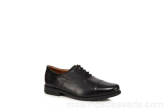 Men Clarks - Black leather 'Beeston' Oxford shoes Lace fastening Upper Leather DUOHZDB