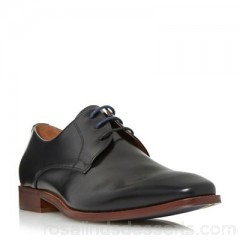 Men Dune - Black 'Richmonds' square toe leather derby shoe Heel height 2cm Fastening Lace up LYPUFLV