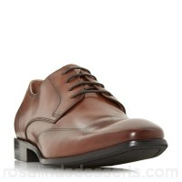 Men Dune - Tan 'Puyol' classic gibson shoes Heel height 1.0cm/0.3 inches Fastening Lace up RFHWLAT