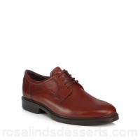 Men ECCO - Brown leather 'Lisbon' Derby shoes Upper Leather Lining Leather textile VMIHLYD