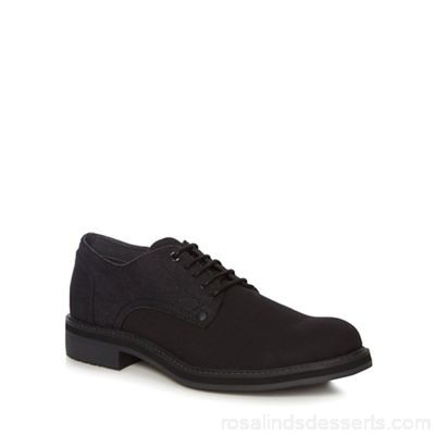 Men G-Star - Black 'Warth' Derby shoes Removable footbed Lace fastening IHRQCVC