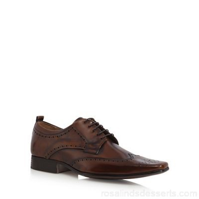 Men Jeff Banks - Brown leather brogues Upper Leather Lining Leather textile VPIITMF