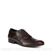 Men Jeff Banks - Dark red leather 'Sheldon' brogues Upper Leather Lining Leather / textile WBQEJGX