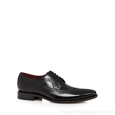 Men Loake - Black leather brogues Upper Leather Lining Leather textile ETDNOJH