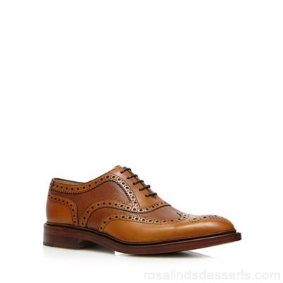 Men Loake - Tan leather 'Funnelweb' brogues Upper Leather Lining Leather BFEOJKT