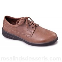 Men Padders - Taupe leather 'Lunar' wide fit shoes Fit g/h Fastening lace up CQTOUPA