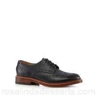 Men RJR.John Rocha - Black leather Goodyear welted brogues  DROWCEE