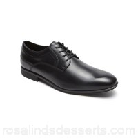 Men Rockport - Black style connected plain toe shoes Luxury full grain leather uppers that add style and finese to this new collection Rockport branding to all uppers and removable insoles EDZEUVJ