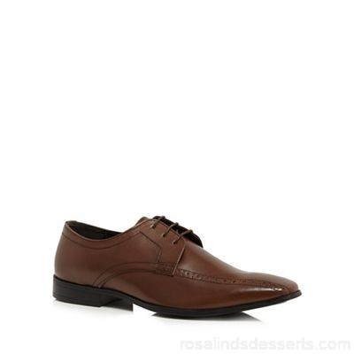 Men The Collection - Dark brown leather 'Cricket' Derby shoes Upper leather Lining man made materials WWQCVLB