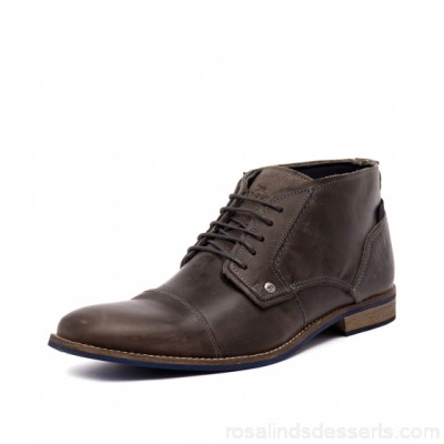 WILD RHINO Men digby dark grey leather WR10003-G21-LE CKCKEZM