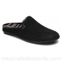 Rondinaud Charente Mens Slippers Fall/Winter Noir 64498 DEDPYDX