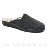 Rondinaud Gabillou Mens Slippers Fall/Winter Anthracite 106379 QTVPHXI