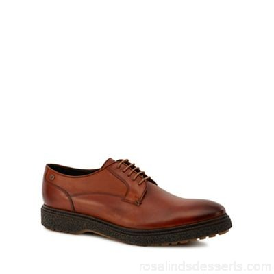 Men Base London - Tan leather 'Barrage' Derby shoes Upper Leather Lining Leather textile NDTSQHQ