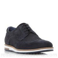 Men Bertie - Navy 'Baker hill' wedge sole brogue shoes Heel height 1 cm Fastening lace up ZOMWMGX