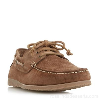 Men Bertie - Tan 'Beach house' suede lace up boat shoes Heel height 1 cm Fastening lace up JAQPSIC
