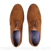 Men Burton - Tan suede look brogue shoes 100% synthetic Do not wash OYITYJJ