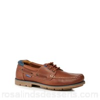 Men Chatham Marine - Tan leather 'Russell' boat shoes Upper Leather Lining Leather UZADPMB
