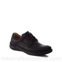 Men Clarks - Black leather 'Nature Three' lace-up shoes Lace fastening Upper Leather IAYWZAA
