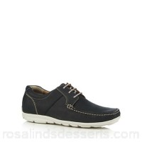 Men Henley Comfort - Navy leather 'Airsoft' Derby shoes Upper Leather Lining Leather textile LRZENOK