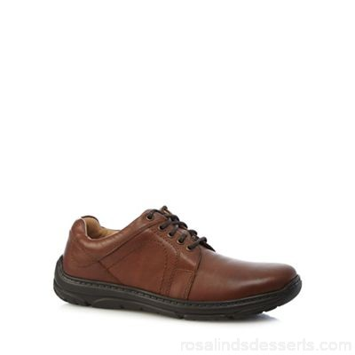 Men Henley Comfort - Tan leather 'Como Casual' wide fit lace up shoes Upper Leather Lining Leather textile CAALQID