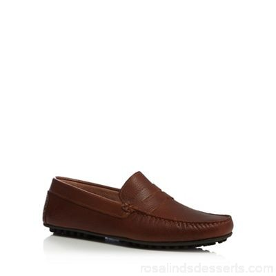Men J by Jasper Conran - Tan leather loafers Upper Leather Lining Leather SQDWMVS