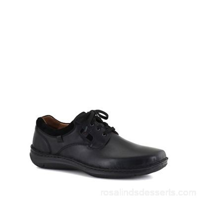 Men Josef Seibel - Black 'Anvers 36' mens lightweight casual shoes Fastening lace up Fit extra wide RGBMZBW