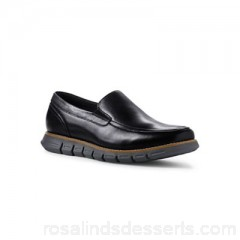 Men Lands' End - Black regular casual comfort leather loafers Regular Fit advice this style comes up a little large; please order a half size smaller than usual EVVQCBV