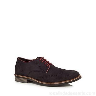 Men Lotus Since 1759 - Navy suede 'Willington' brogues Lace fastening Upper Leather GRCTRTF