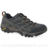 Men Merrell - Grey 'moab 2 gtx' waterproof sports shoes Fastening lace up Fit standard PQPAPCO