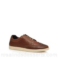 Men Original Penguin - Tan leather 'Loom' lace up shoes Upper Leather Lining Textile leather RXUDUFS