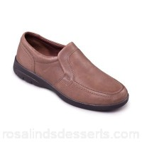 Men Padders - Taupe leather 'Leo' wide fit shoes Fit g/h Heel height 3cm/1.18 inches UTHYYXS