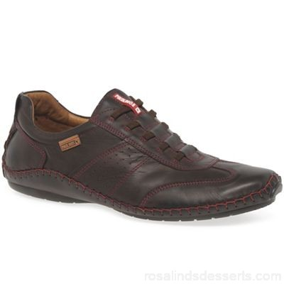 Men Pikolinos - Brown leather 'Freeway II' casual shoes Fastening lace up Upper leather HDZDCFC