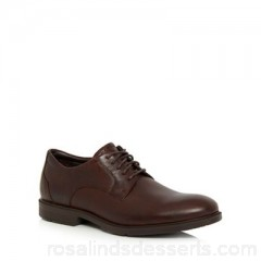 Men Rockport - Brown leather 'City Smart' Derby shoes Upper Leather Lining Textile man made materials EBNZVXM