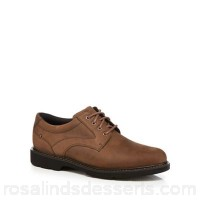 Men Rockport - Light brown leather 'Plainfield Pine' lace up shoes Upper Leather Lining Textile YZEVTME