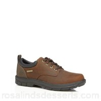 Men Skechers - Brown 'Segment Bertan' lace up shoes Upper Leather man made materials Lining Textile AVJXCHA