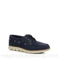 Men Timberland - Navy 'Bradstreet' lace up boat shoes Upper leather Lining textile GWZOFWZ