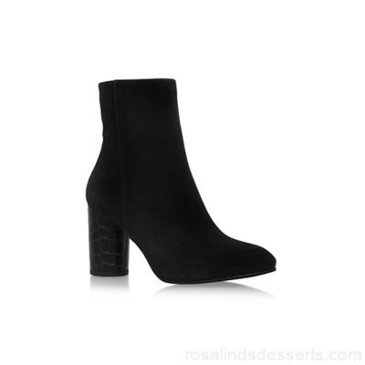 Women Carvela - Black 'Smile' high heel ankle boots Upper Suede Lining Synthetic AQZAEHY