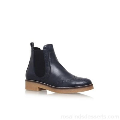 Women Carvela - Blue 'Slowest' flat ankle boots Upper Leather Lining Synthetic KYNGCNE